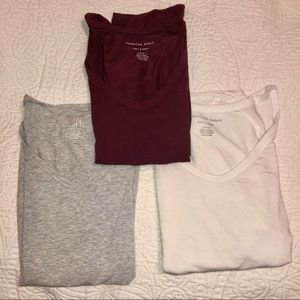 Set of 3 Aerie Super Soft V-Neck Tshirts